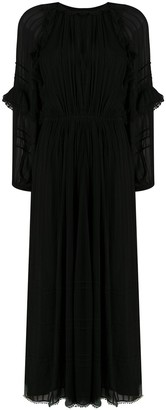 Etoile Isabel Marant Long-Sleeve Maxi Dress