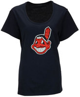 '47 Women's Cleveland Indians Relaxed Knockout T-Shirt