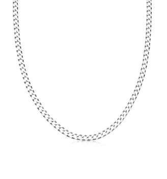 Missoma Limited Lucy Williams Silver Flat Curb Chain