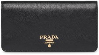 Prada Logo Plaque Wallet On Chain