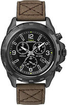 Timex Men's Outdoor Watch | Rugged Leather Strap Black Dial | Expedition T49986