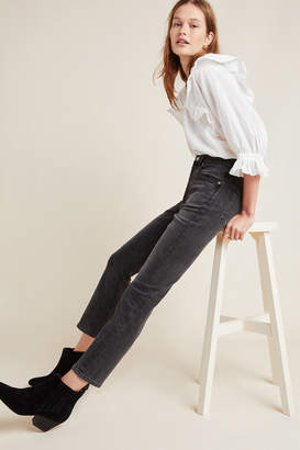 A Gold E Agolde AGOLDE Riley High-Rise Straight Cropped Jeans