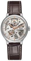 Rado Men's Centrix Open Heart Automatic Leather Strap Watch, 38Mm