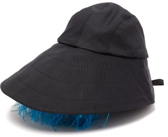 Preen by Thornton Bregazzi Naomi Feather-trimmed Bucket Hat - Womens - Black