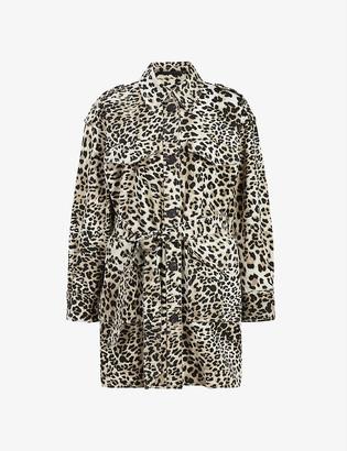 AllSaints Suzie leopard-print cotton jacket