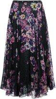 Giamba polka dot floral skirt