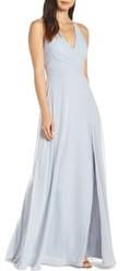 Jenny Yoo Collection Bryce Surplice V-Neck Chiffon Evening Dress