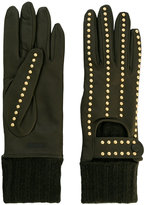 Moschino studded gloves