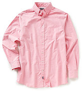 Daniel Cremieux Big & Tall Lightweight Washed Solid Oxford Long-Sleeve Woven Shirt
