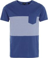 Oxford Ethan Stripe Pocket Tshirt Blu/Wh X