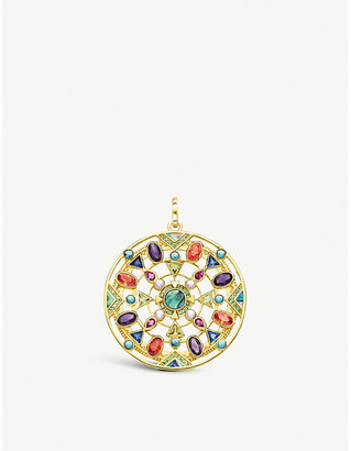 Thomas Sabo Paradise Colours 18ct yellow gold-plated gemstone pendant