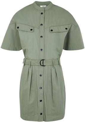 Etoile Isabel Marant Zolina Sage Cotton Shirt Dress