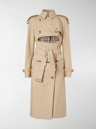 Burberry Deconstructed Shearling Trench Coat