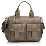 Storksak Infant Girl's Storsak 'Sofia' Leather Diaper Bag - Brown