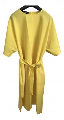 Rochas Yellow Wool Dresses
