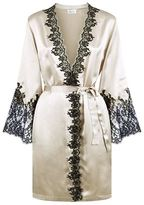 Marjolaine Caprice Lace Detail Silk Robe