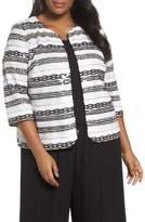Alex Evenings Sequin Stripe Jacket