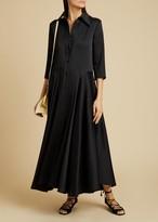 KHAITE The Katie Dress in Black