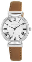 Anne Klein Stainless Steel Leather-Strap Watch- AK2137SVDT