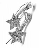 Chanel 18K White Gold Comete Diamond Star Earrings