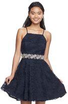 Trixxi Juniors' Soutache Sleeveless Dress
