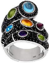 Judith Ripka Sterling Black Spinel & MultiGemstone Ring