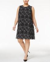 Calvin Klein Plus Size Dot-Print Dress