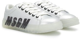Msgm Kids Logo Lace-Up Trainers