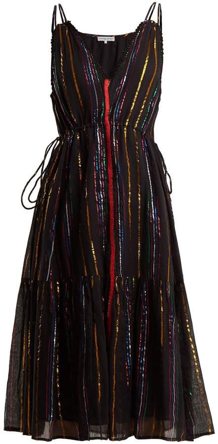 Apiece Apart Daphne striped cotton-blend dress