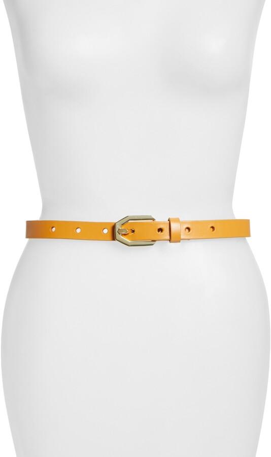 Frame Polygon Buckle Leather Belt