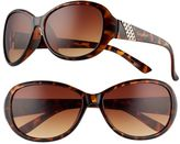 UNIONBAY Women's Rhinestone Oval Sunglasses