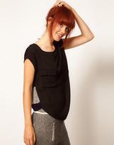 Baum und Pferdgarten Silk Shell Top with Merino Knitted Back