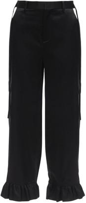 Noir Kei Ninomiya Silk Satin Pants W/ Straps