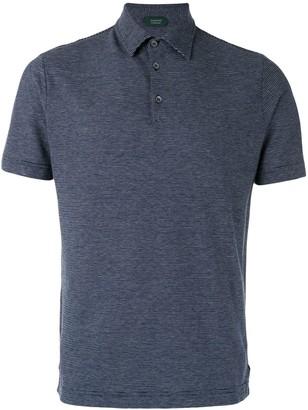 Zanone color block polo shirt