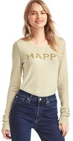 Gap Happy intarsia crewneck sweater