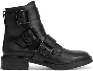 Rag & Bone Cannon Buckled Leather Ankle Boots