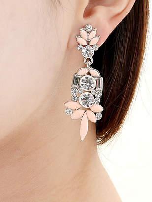 Amrita Singh Women's Earrings Peach/Ivory - Austrian Crystal & Peach Holi Drop Earrings