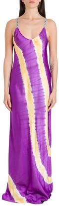 Palm Angels Tie-Dye Slip Maxi Dress
