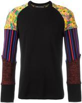 Comme des Garcons patchwork sleeve jumper
