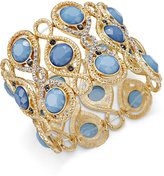 INC International Concepts Gold-Tone Pavé Blue Stone Stretch Bracelet, Only at Macy's