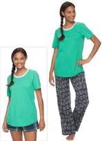 So Juniors' SO Pajamas: Knit Pants, Shorts & Short Sleeve Top 3-Piece PJ Set