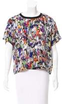 Opening Ceremony Silk Digital Print Top
