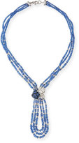 Mariani Knotted Blue Sapphire Necklace with Diamonds