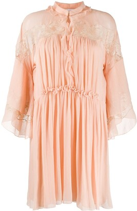 Chloé Flared Silk Dress