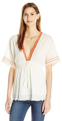 Moon River Women's Embroidered Dress