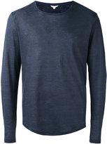 Orlebar Brown plain longsleeved T-shirt - men - Linen/Flax - S
