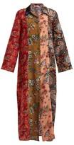 Anjuna - Augustina Panelled Silk-crepe Dress - Womens - Red Multi
