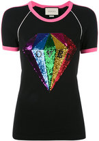 Gucci Loved sequin diamond t-shirt - women - Cotton/Polyester/Rayon - XS