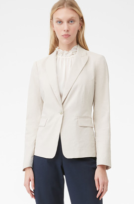 Rebecca Taylor Tailored Techy Linen Suiting Jacket