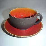 "Jars Tourron"" Tea Cup & Saucer"